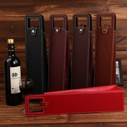 High-end Business Leather Wine Bag