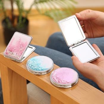 流沙摺疊化妝鏡