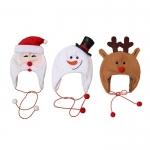 拉絨布帶繩聖誕帽