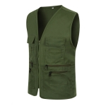 Multi-pocket Zipper Vest