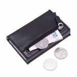 PU Theftproof zipper card holder