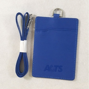 Leather Card Holder with Lanyard
