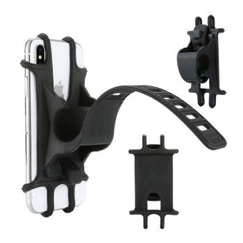 矽膠拉釦式自行車手機支架