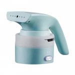 Foldable handheld clothes steamer - Tiffany blue