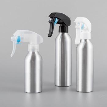 Travel use aluminum spray bottle