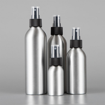 Aluminum sunscreen spray bottle