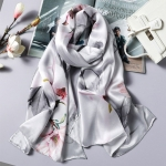 中國風桑蠶絲披肩圍巾