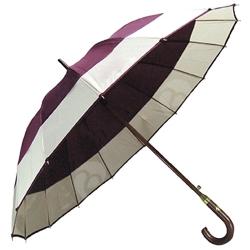 16骨雙色直桿雨傘