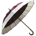 16-bone Double Color Straight Rod Umbrella