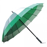 16-bone Double Color Straight Handle Umbrella