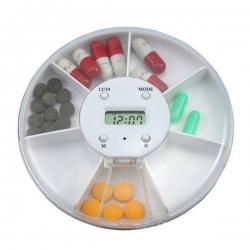 7格旋轉鬧鐘藥盒