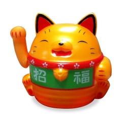 卡通太陽能招福貓