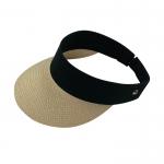 空頂草編鴨舌太陽帽子
