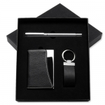 Cardholder+Keychain+Roller Pen Business Set