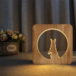 中秋玉兔3D夜燈