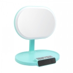 Bluetooth stereo with makeup mirror LED lamp