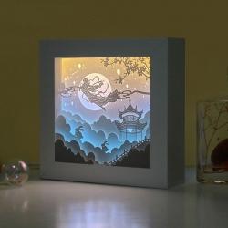 中秋創意3D光影紙雕燈