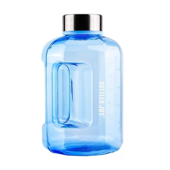 High-capacity sports bottle for gym