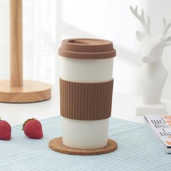 Silicone lid anti-scald ceramic cup