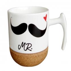 Cork Bottom Ceramic Mug