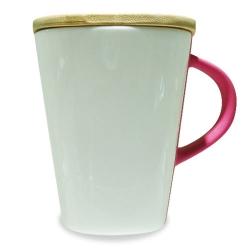 Wooden Lid Ceramic Mug