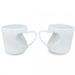 Heart-shaped Handle Ceramic Mug