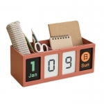Multi-functional calendar with pen holder