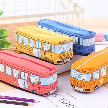 Bus shape pencil bag