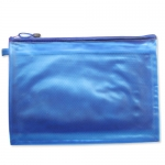 PVC transparent frosted zipper folder