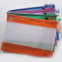 Portable grid zipper folder