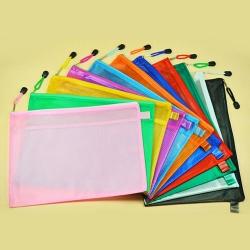 PVC transparent frosted zipper folder