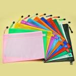 PVC透明磨砂拉鏈文件袋