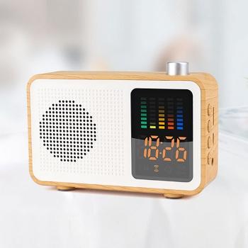 Retro wooden texture smart Bluetooth speaker