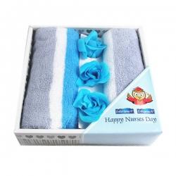 香皂花毛巾禮盒