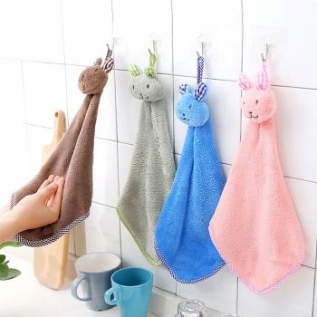 可掛式珊瑚絨吸水擦手巾