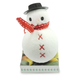 純棉壓縮雪人毛巾