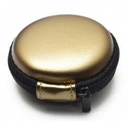 Round PU Zipper Earphone Bag
