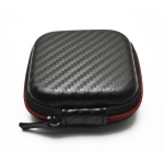 Square Cross Pattern Earphone Bag