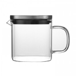 Rectangular columnar glass kettle