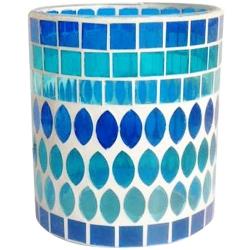彩色馬賽克玻璃杯