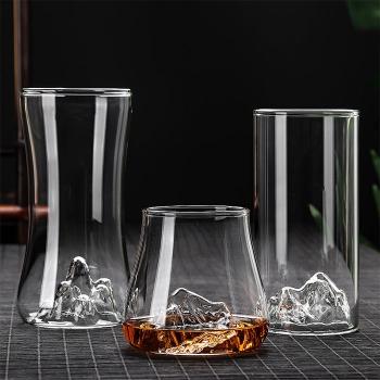 透明玻璃觀山杯