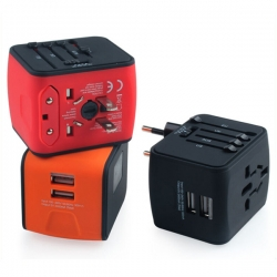 雙USB多國通用插頭