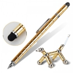 Funny play magnet metal roller ball pen stylus